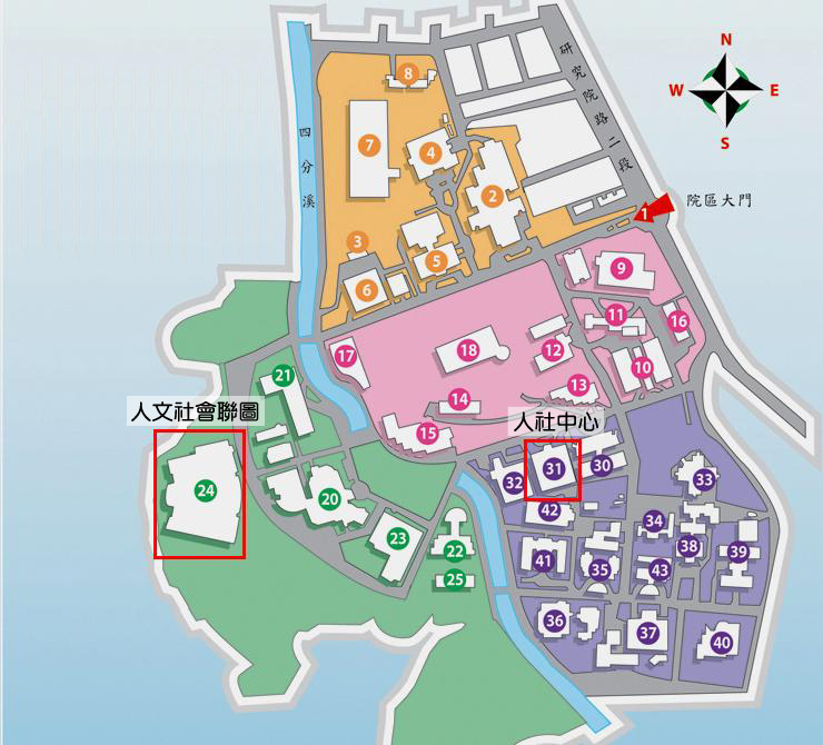 the map of Joint Library of Humanities and Social Sciences (JLHS)